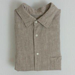 100% Linen Button Front Shirt